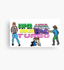 Super Mega Crash Bros. Turbo Metal Print