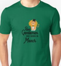 Real Gentlemen are born in March Ror48 Unisex T-Shirt