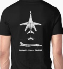 BONE, Rockwell B-1 Lancer,  supersonic variable-sweep wing, heavy bomber used by the United States Air Force (USAF). T-Shirt