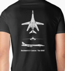 BONE, Rockwell B-1 Lancer,  supersonic variable-sweep wing, heavy bomber used by the United States Air Force (USAF). Men's V-Neck T-Shirt
