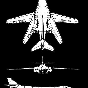 BONE, Rockwell B-1 Lancer,  supersonic variable-sweep wing, heavy bomber used by the United States Air Force (USAF). by TOMSREDBUBBLE