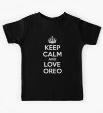Keep Calm And Love Oreo Kids Tee