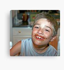 Chocolate Smile Canvas Print