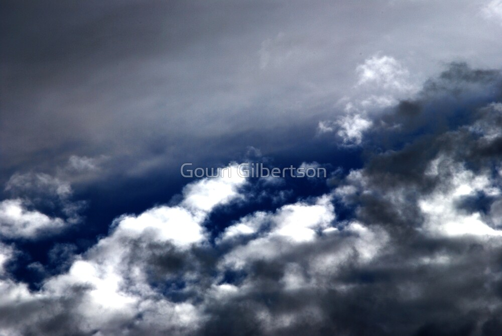 Grey clouds are coming by Gowri Gilbertson