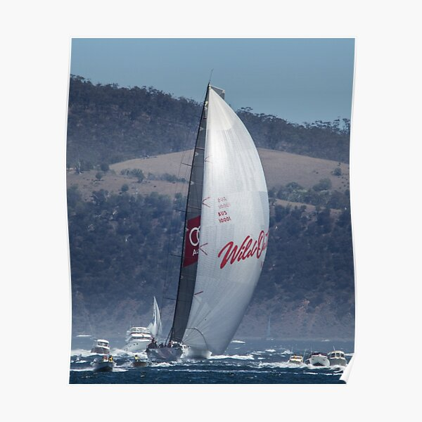 Wild Oats XI winning the 2104 Sydney to Hobart Poster