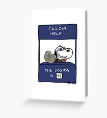 Tardis Help Greeting Card
