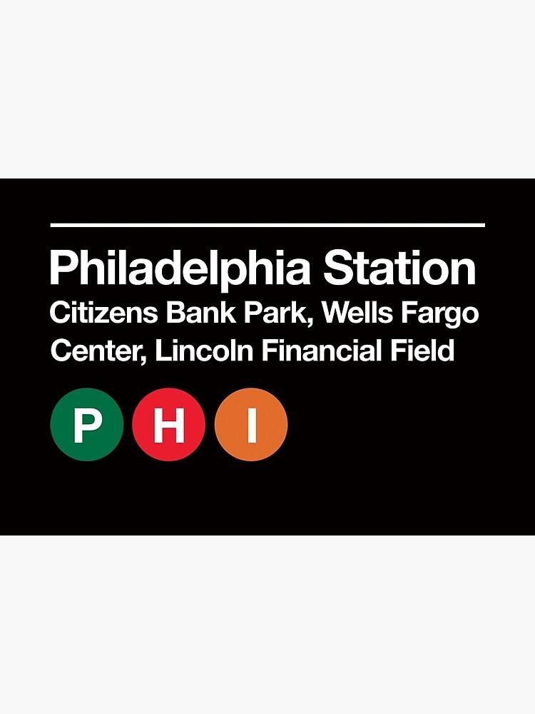Philadelphia Pro Sports Venue Subway Sign by phoneticwear