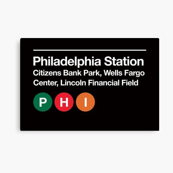 Philadelphia Pro Sports Venue Subway Sign Canvas Print
