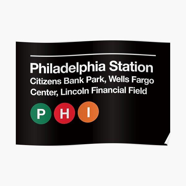 Philadelphia Pro Sports Venue Subway Sign Poster