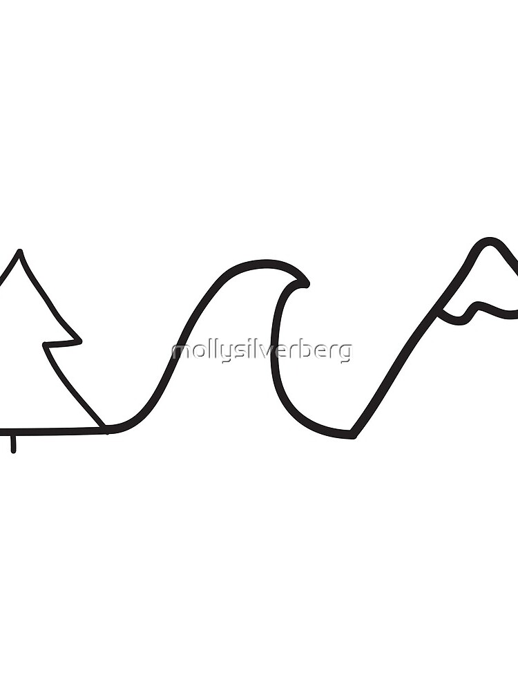 montaña de la onda del árbol de mollysilverberg