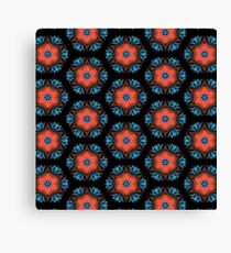 Floral Hexagon Pattern Canvas Print