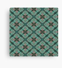 Teal Pattern Canvas Print