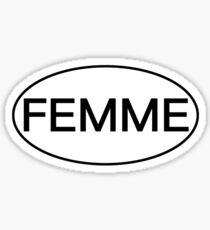 Femme Bumper Sticker Sticker
