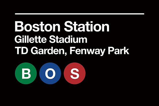 Boston Pro Sports Venue Subway Sign by phoneticwear