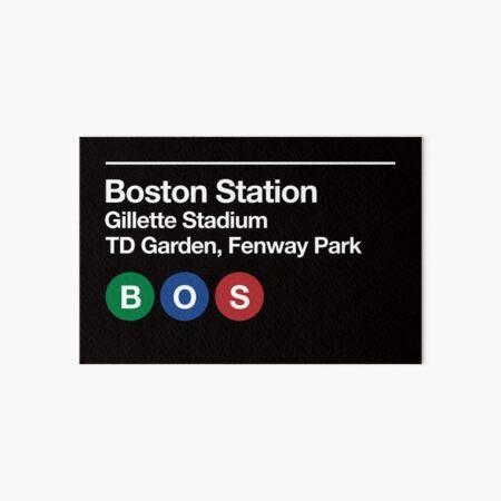 Boston Pro Sports Venue Subway Sign Art Board Print
