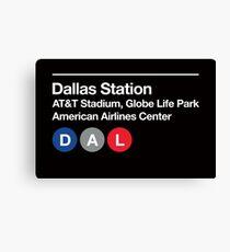 Dallas Pro Sports Venues Subway Sign Canvas Print