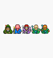 8bit Game Characters: Wizards & Magicians Photographic Print