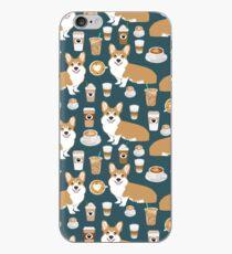 Corgi welsh corgi coffee cafe dog dogs dog breed dog pattern pet friendly iPhone Case