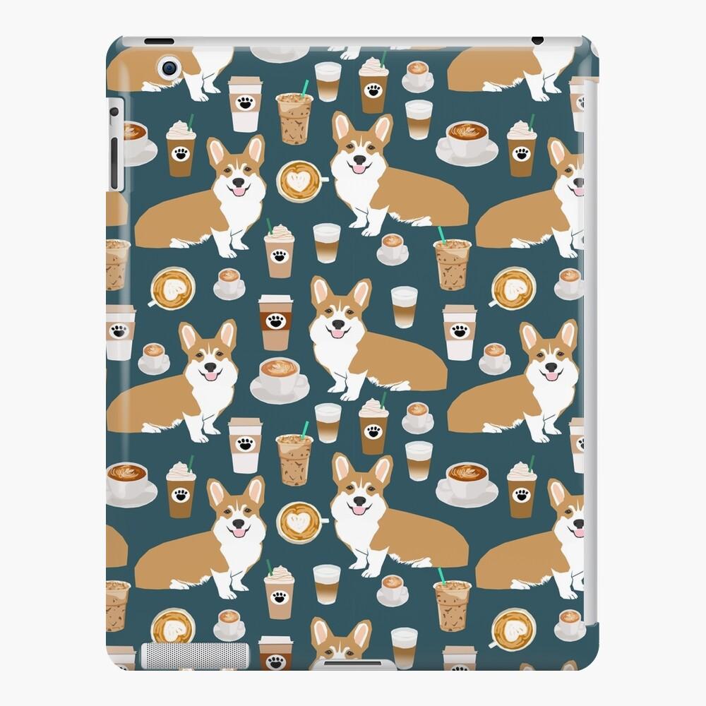 Corgi welsh corgi café café perro perros perro raza perro patrón mascota amigable Funda y vinilo para iPad