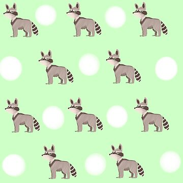 Racoon Pattern by MissHeyThere