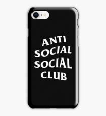 Anti Social Social Club Merchandise iPhone Case/Skin