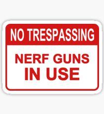Nerf Guns In Use Sticker