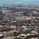 cityscape Suburb Barcelona view from the bird's eye view by mrivserg
