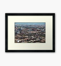 cityscape Suburb Barcelona view from the bird's eye view Framed Print