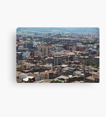 cityscape Suburb Barcelona view from the bird's eye view Canvas Print