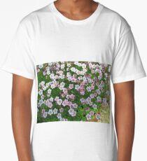 Flowering moss many  bright flowers Long T-Shirt