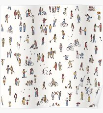 Tiny Pedestrians Poster