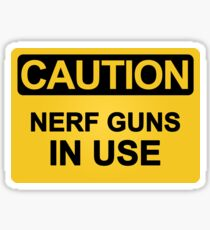 Nerf Guns In Use Sticker
