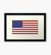 American Flag, Stars & Stripes, Pure & Simple, America, USA Framed Print