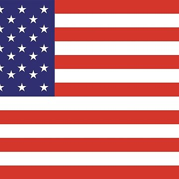 American Flag, Stars & Stripes, Pure & Simple, America, USA by TOMSREDBUBBLE
