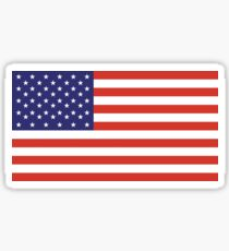 American Flag, Stars & Stripes, Pure & Simple, America, USA Sticker