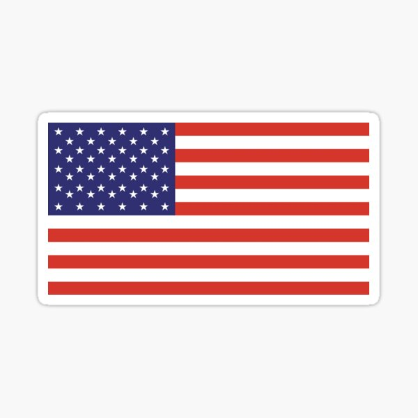 American Flag. Stars and Stripes, Pure and Simple, America, USA. Sticker