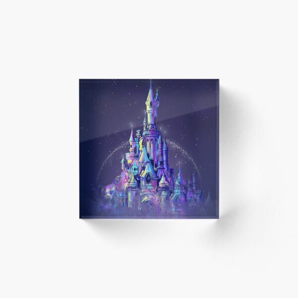Magic Princess Fairytale Castle Kingdom Acrylic Block
