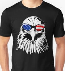 Patriotic Eagle America 4th of July American Flag T-shirt Unisex T-Shirt