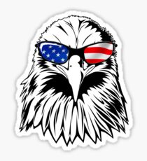 Patriotic Eagle America 4th of July American Flag T-shirt Sticker