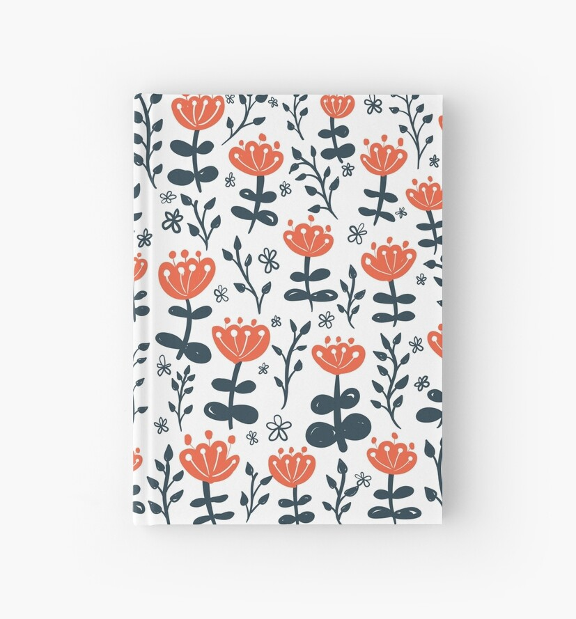 Red Blooms Floral Pattern by SamOssie