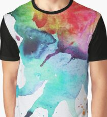 Rainbow Chakra Watercolor Splash Graphic T-Shirt