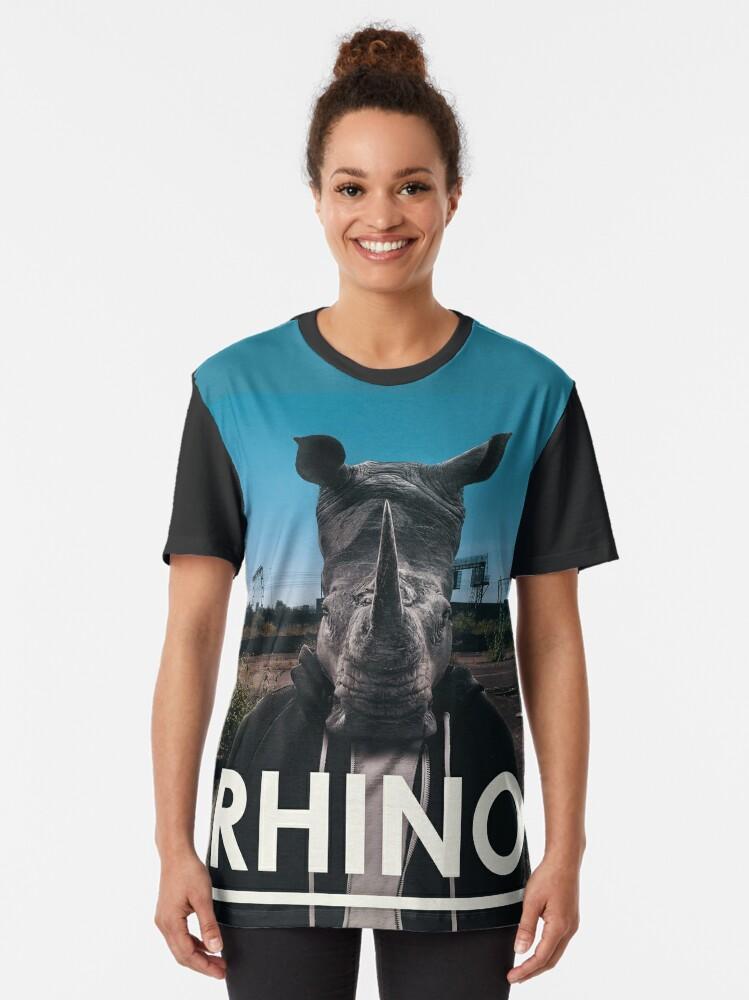Alternate view of Rhino Album Art Cool Tees Graphic T-Shirt