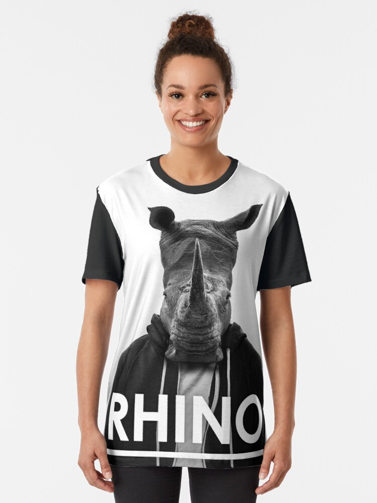 Alternate view of Rhino - Jack Buck  Graphic T-Shirt