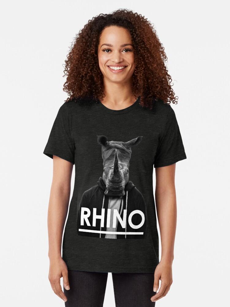 Alternate view of Rhino - Jack Buck  Tri-blend T-Shirt