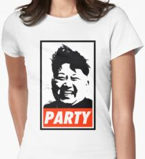Kim Jong Un PARTY Women's Fitted T-Shirt