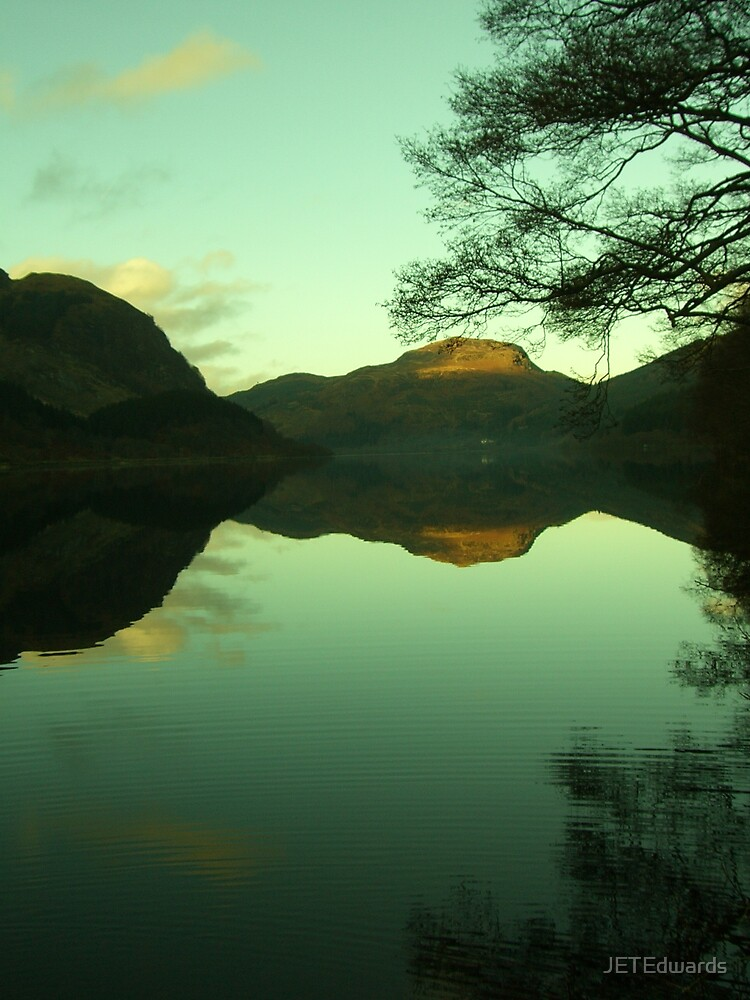 Reflections of Meall An T-Seallaidh in Loch Lubnaig by JETEdwards