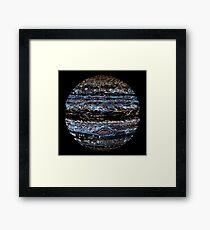 Neon Jupiter Framed Print