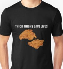 THICK THIGHS SAVE LIVES Unisex T-Shirt