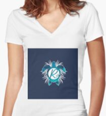 R18#13 Women's Fitted V-Neck T-Shirt