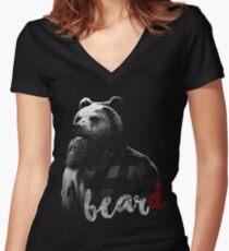 BearD Women's Fitted V-Neck T-Shirt